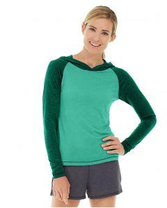 Ariel Roll Sleeve Sweatshirt-M-Green